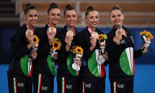 OlimpiadiTokyo 2020, bronzo per le Farfalle della ritmica: per l'Italia è la 40esima medaglia