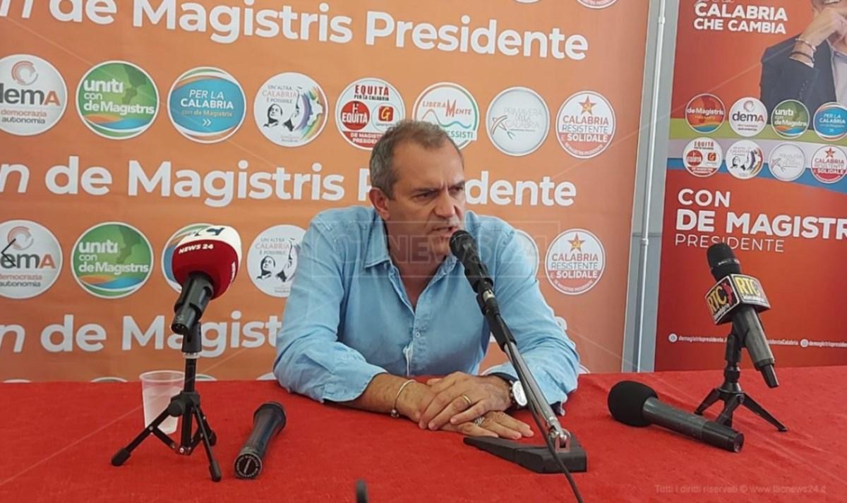 Luigi de Magistris, candidato alla presidenza della Regione