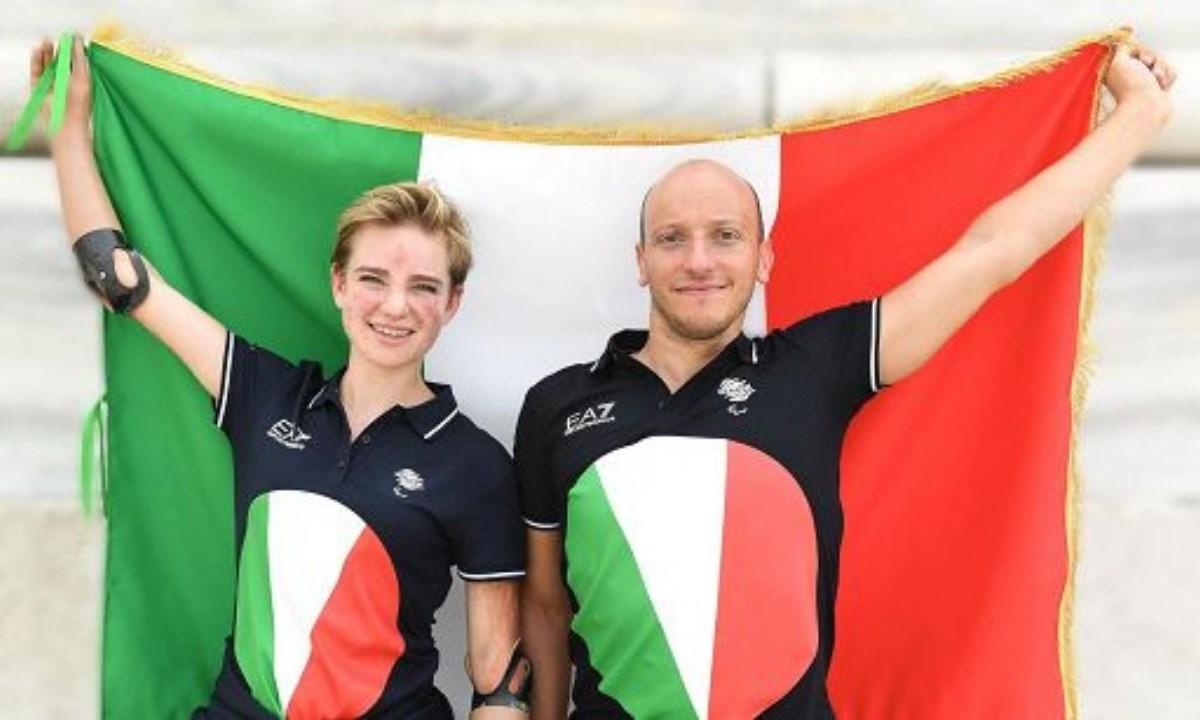 Beatrice Vio (scherma) e Federico Morlacchi (nuoto)