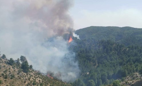 L'incendio nella Valle Infernale di San Luca