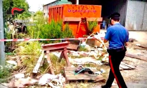 L'area sequestrata a Vibo Valentia