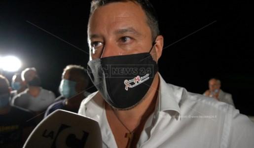 Matteo Salvini durante l'intervista