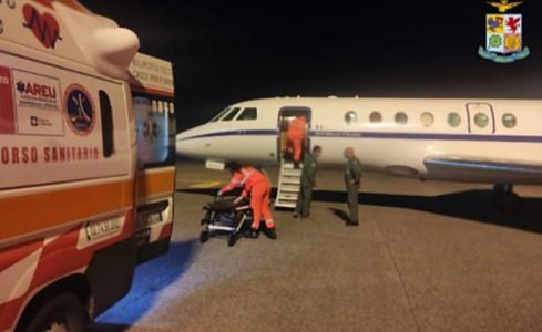Reggio Calabria, 28enne in pericolo di vita trasferita con un volo d'emergenza a Milano