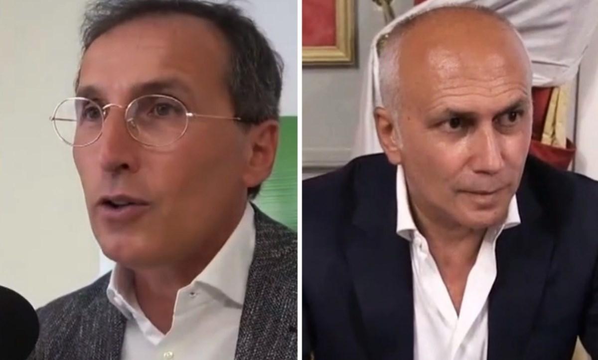 Il deputato Pd Boccia e il candidato a sindaco Caruso