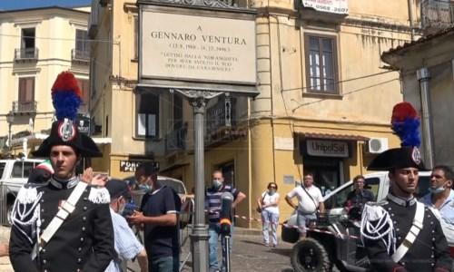 La cerimoniaLamezia, piazza intitolata alla memoria di Gennaro Ventura: il carabiniere ucciso dalla 'ndrangheta