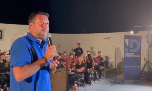 Salvini nella recente visita a Tropea