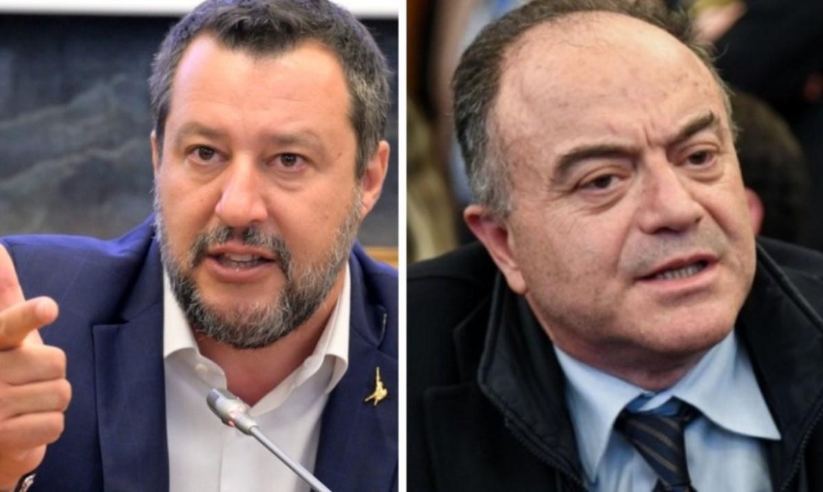 Il leader della Lega Matteo Salvini e il procuratore Nicola Gratteri, foto ansa