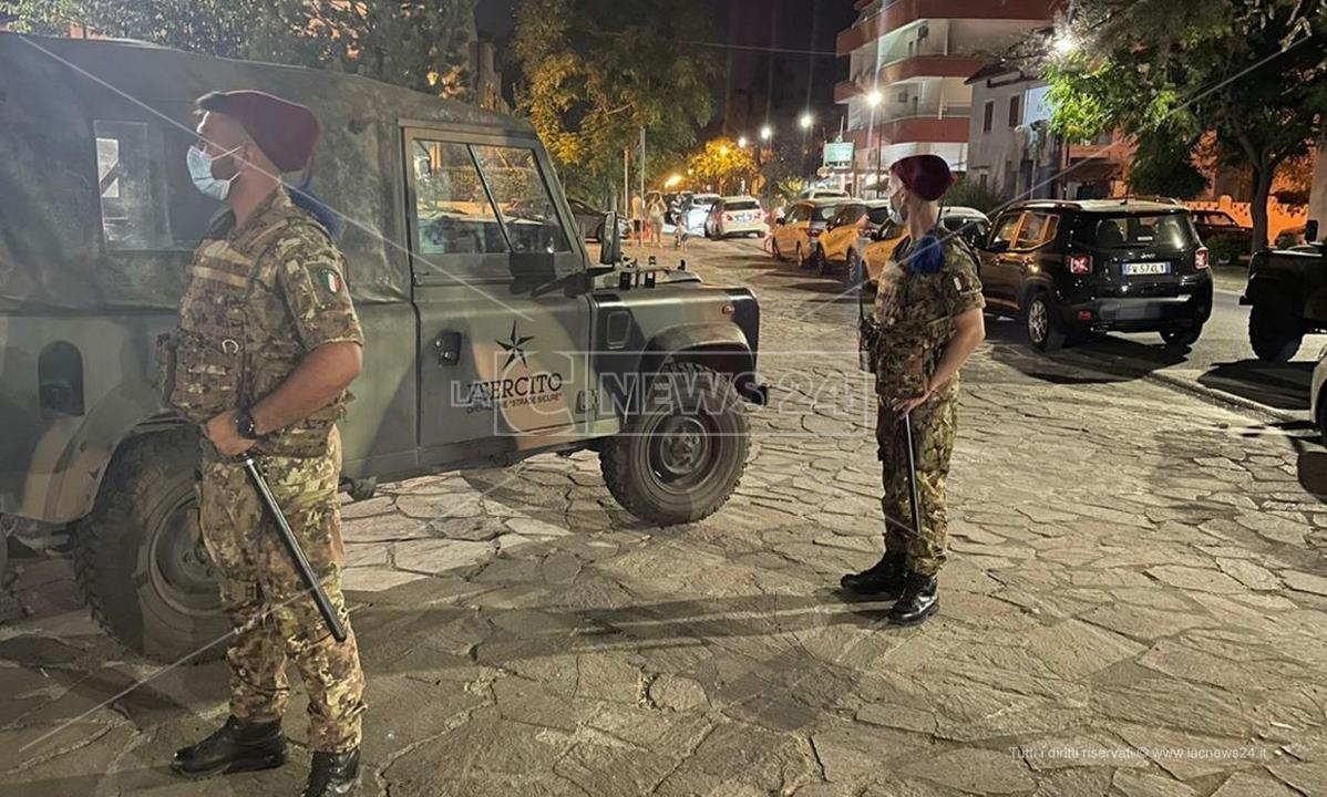 I controlli dell'esercito incrementati nel Cosentino