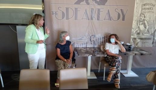 Bianca Rende e Anna Laura Orrico durante la conferenza stampa