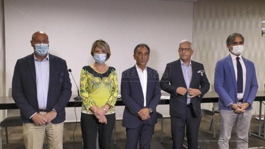 Luigi Voce, Maria Limardo, Sergio Abramo, Marcello Manna e Giuseppe Falcomatà