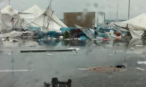 Maltempo CalabriaTromba d'aria e violento temporale tra Falerna e Gizzeria, danni e disagi - LIVE