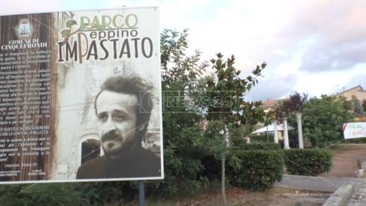 Il cartello all'ingresso del Parco
