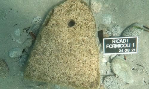 Ricadi, ritrovato antico reperto in fondo al mare in località Formicoli