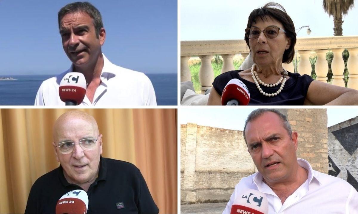 I quattro candidati alla presidenza della Regione Calabria: Roberto Occhiuto, Amalia Bruni, Mario Oliverio e Luigi de Magistris