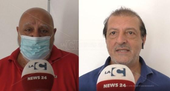 Il presidente del Coni Calabria, Maurizio Condipodero, e il presidente del Cip Calabria, Antonello Scagliola
