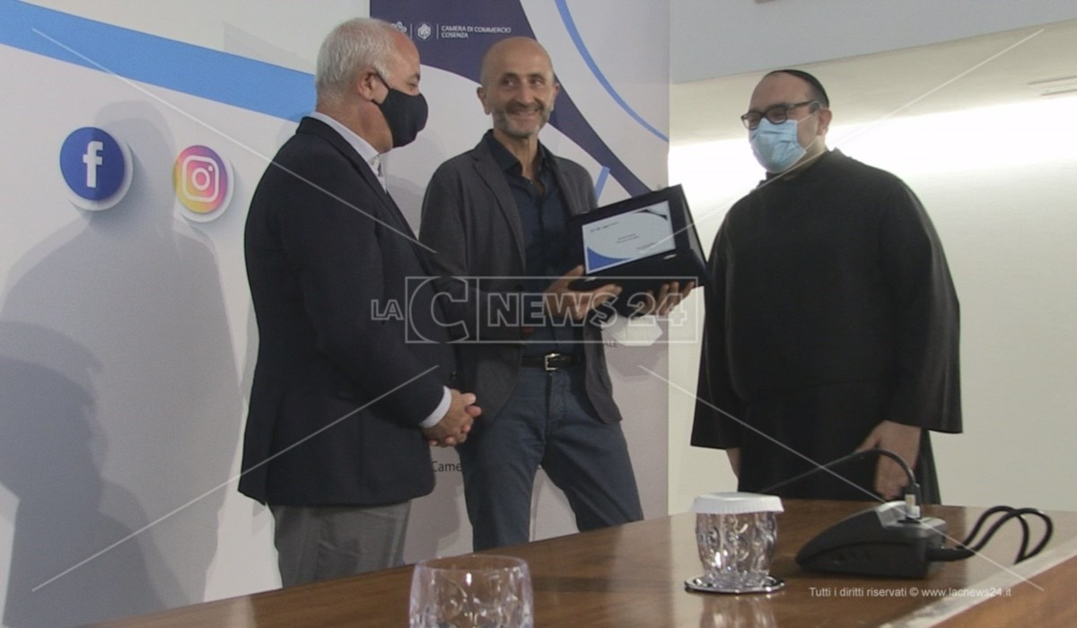 La premiazione di Vincenzo Petraglia per Dove del Corriere della Sera