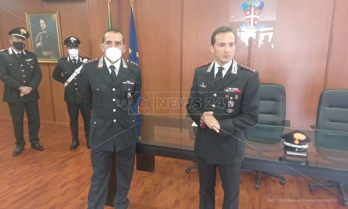 A destra il colonnello Spoto