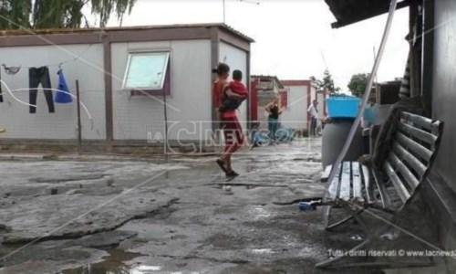 Il campo rom di Scordovillo a Lamezia