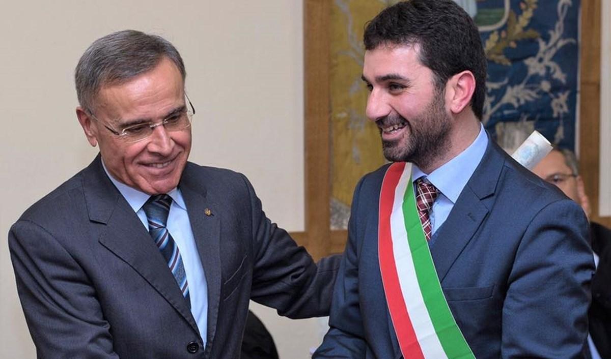 Luca Branda con l'ex Prefetto di Cosenza Antonio Reppucci