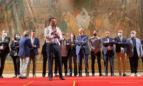 Salvini sul palco del Rendano