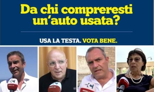 Da sinistra: Occhiuto, Oliverio, de Magistris, Bruni
