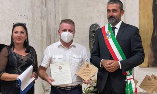 Il riconoscimentoAnche al videoreporter di LaC Caracciolo la civica benemerenza della città di Tropea