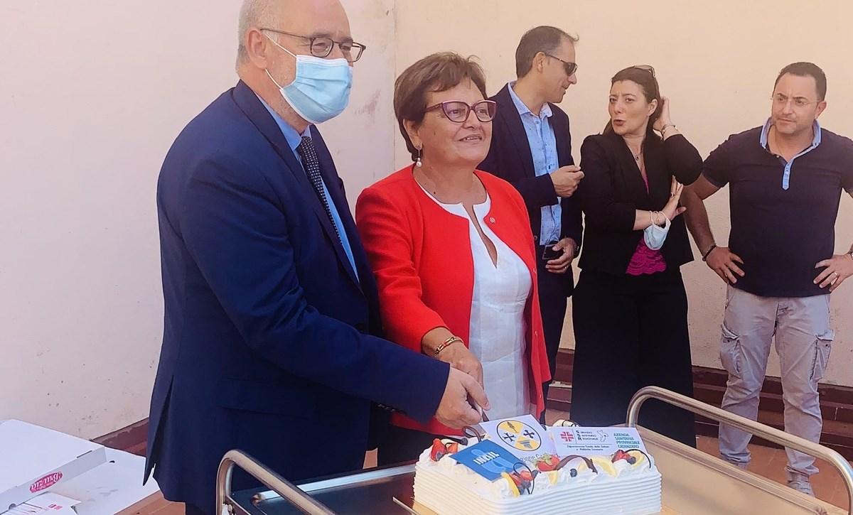 Soluri e Latella all'inaugurazione del nuovo reparto