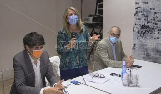 Bianca Rende insieme a Carlo Tansi e Massimo Misiti