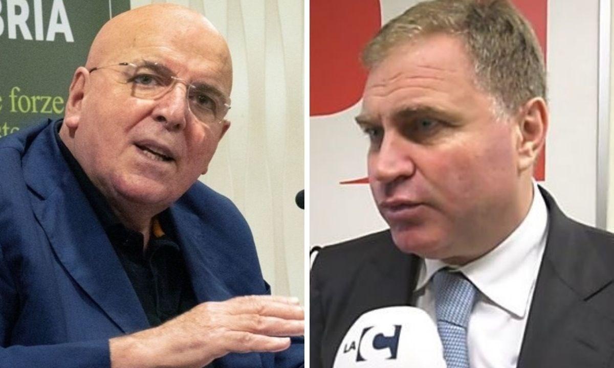 A sinistra Mario Oliverio, a destra Stefano Graziano