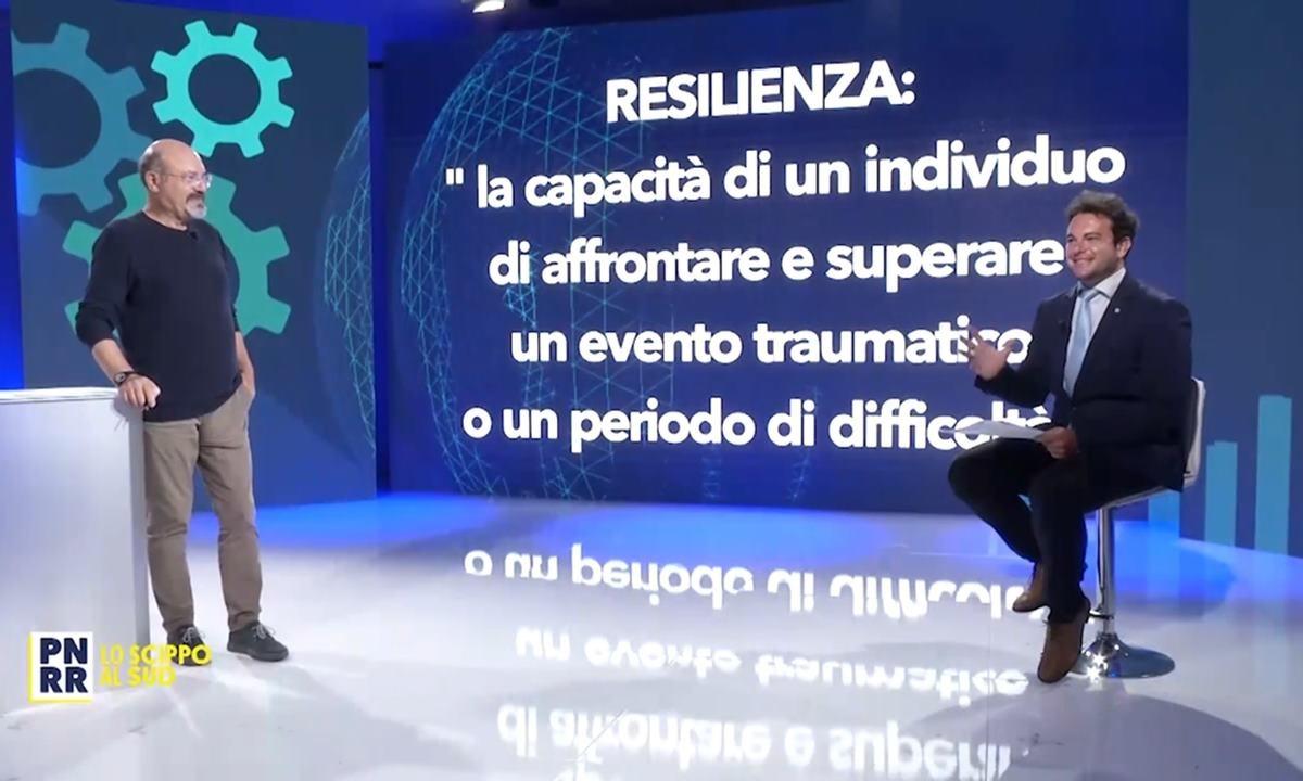 Pino Aprile e Luca Antonio Pepe durante la trasmissione di LaC Tv sul Pnrr