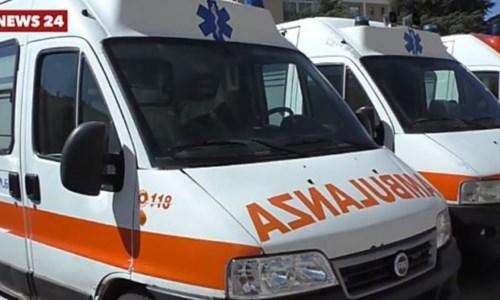 Le tre ambulanze nuove