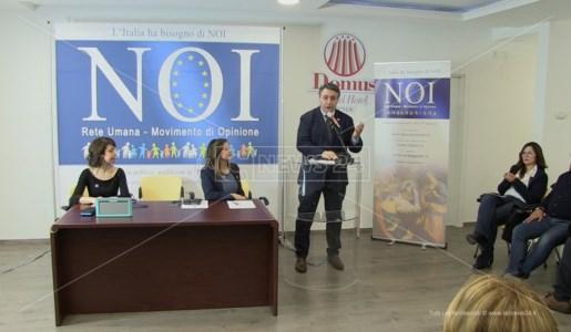 Fabio Gallo nel corso di una iniziativa politica del Movimento Noi
