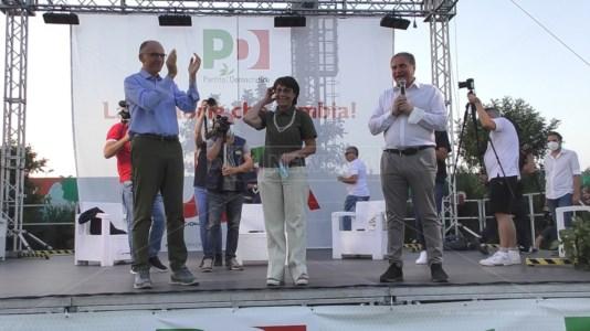 Enrico Letta, Amalia Bruni e Stefano Graziano