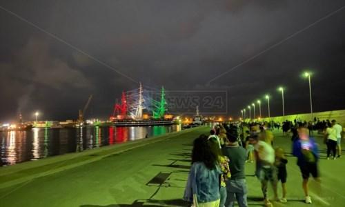 L'Amerigo Vespucci al porto di Vibo Marina