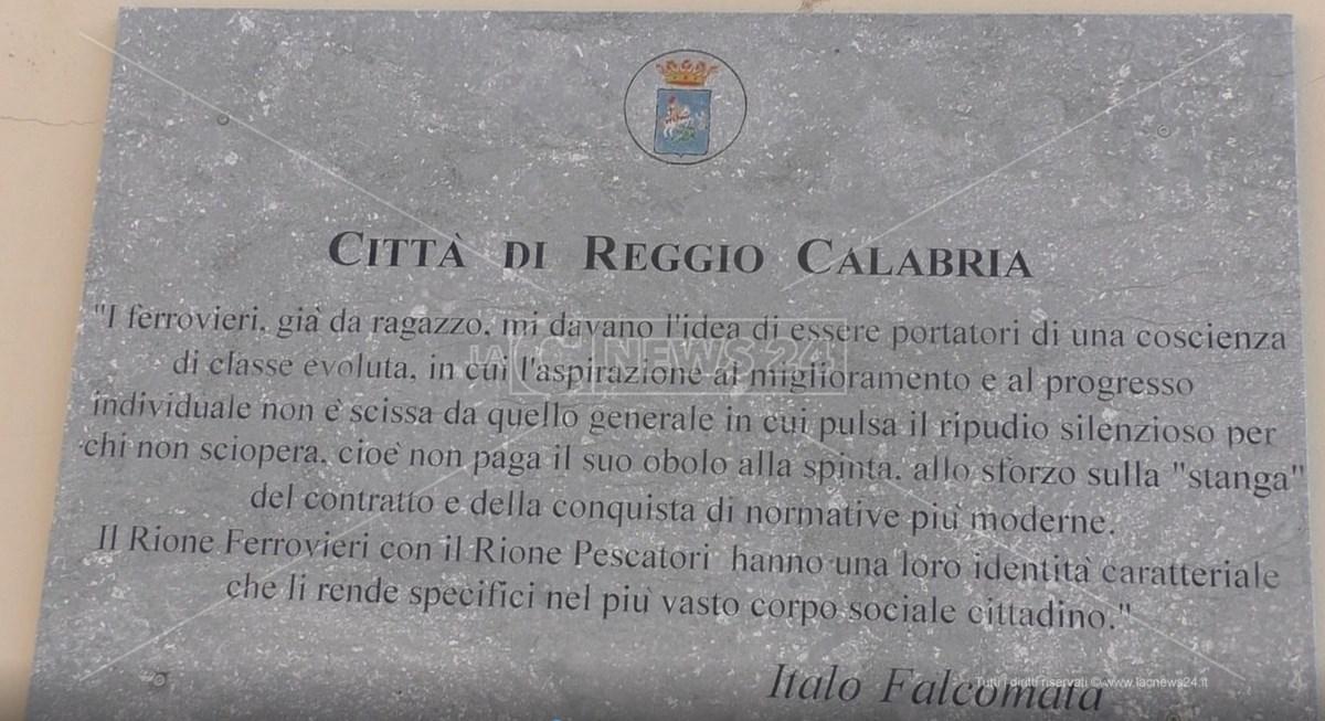 Lapide rione Ferrovieri Reggio Calabria
