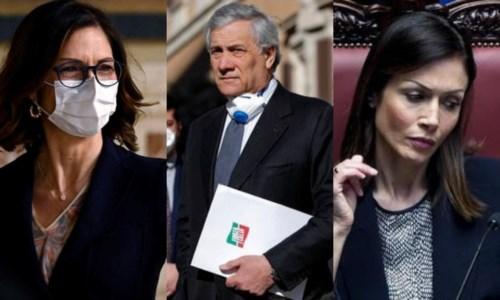 Fi: Gelmini, Tajani e Carfagna (foto ansa)