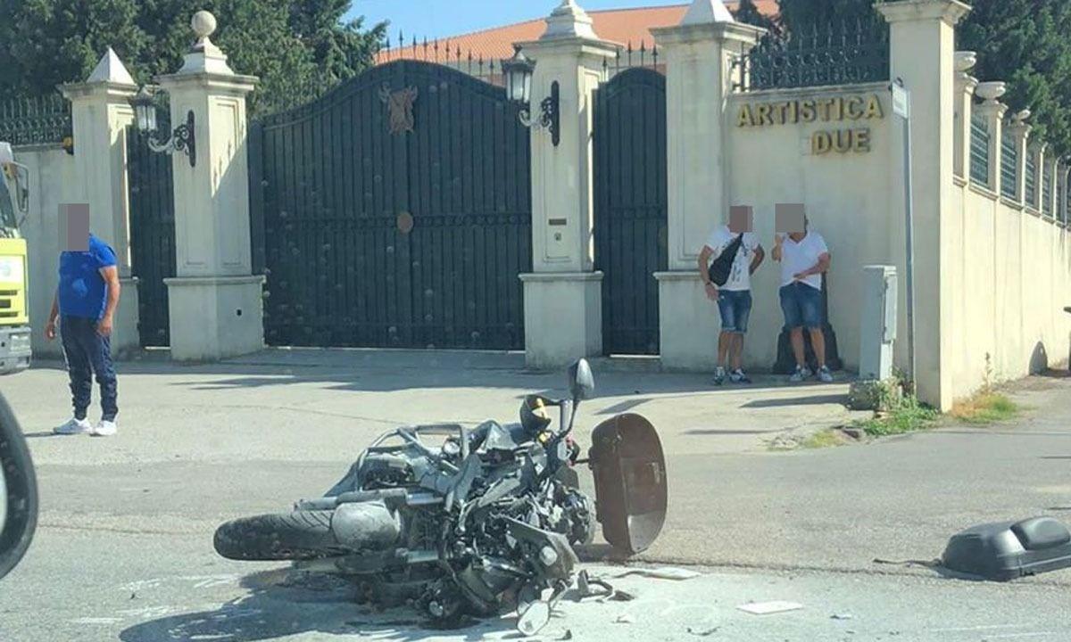 Il luogo dell'incidente sulla 106 a Crotone