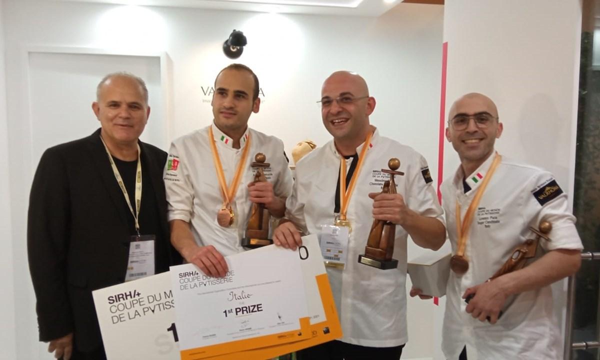 Musolino con i tre pasticceri vincitori