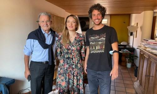 Romano Prodi, Jasmine Cristallo e Mattia Sartori
