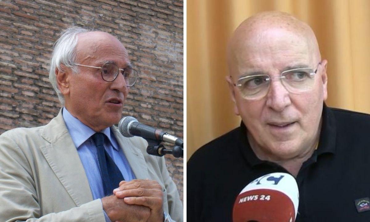 A sinistra il professore Lucio Villari, a desta Mario Oliverio