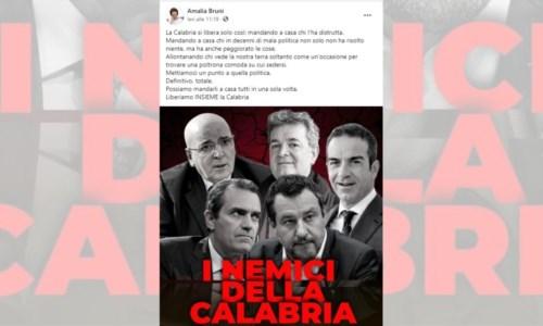 La polemicaAmalia Bruni accusa Oliverio di aver distrutto la Calabria ma un pezzo del Pd si ribella
