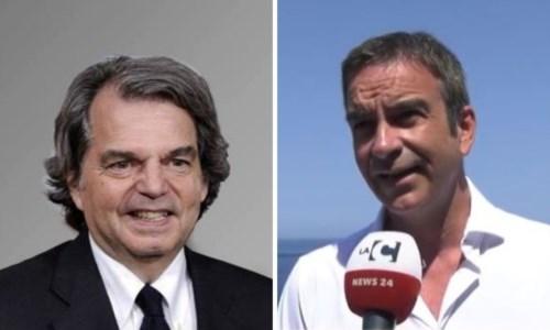 A sinstra il ministro Renato Brunetta, a destra Roberto Occhiuto