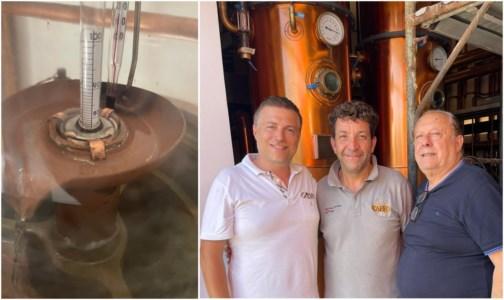 Il gusto del passatoAlla Distilleria Caffo torna in funzione l'antico alambicco in rame di nonno Sebastiano