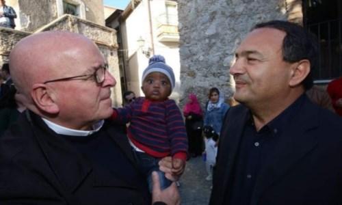 Mario Oliverio con Mimmo Lucano