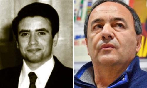 A sinistra il giudice Rosario Livatino, a destra Mimmo Lucano
