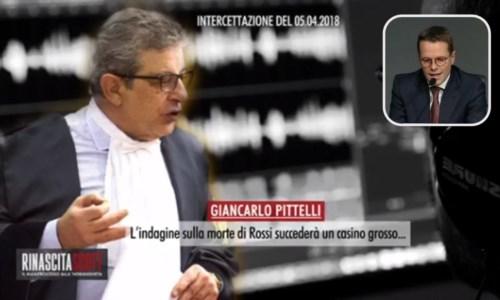 L'avvocato Pittelli; nel riquadro David Rossi