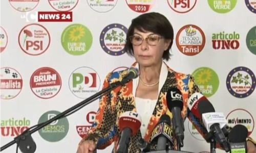 Elezioni regionali Calabria, Amalia Bruni: «Analizziamo la sconfitta, ha vinto proposta Occhiuto»