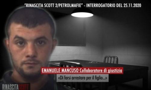 Un frame dell'interrogatorio di Emanuele Mancuso