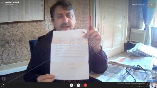 Carlucci con la nota arrivata dall'Ue