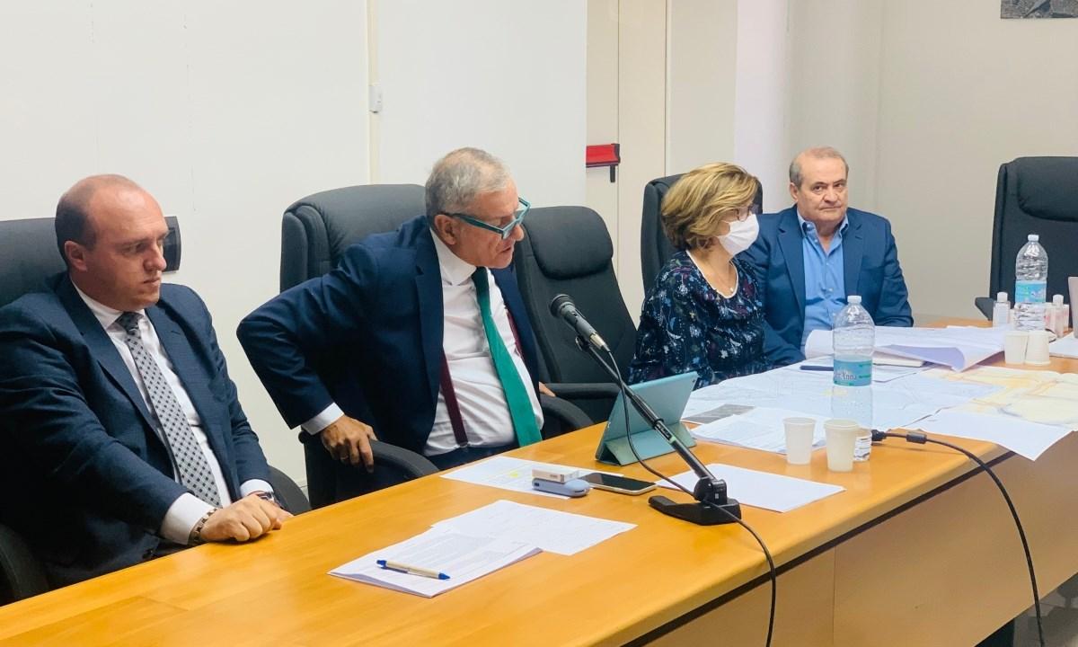 Autorità portuale, un momento della conferenza stampa